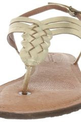 Corso Como Corso Como Womens Friendship Thong Sandal in Gold (platinum paris) - Lyst