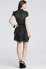 Cynthia Steffe Dress Gabby Polka Dot in Black (rich black) - Lyst