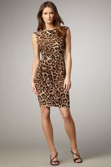 David Meister Leopard-print Knit Dress - Lyst