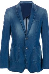 D&g Denim Blazer in Blue for Men (denim) - Lyst