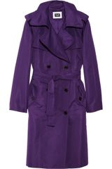 D&G Double-Beasted Sateen Trench Coat - Lyst