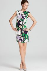 Diane Von Furstenberg Dress Twisty Floral Silk Jersey - Lyst