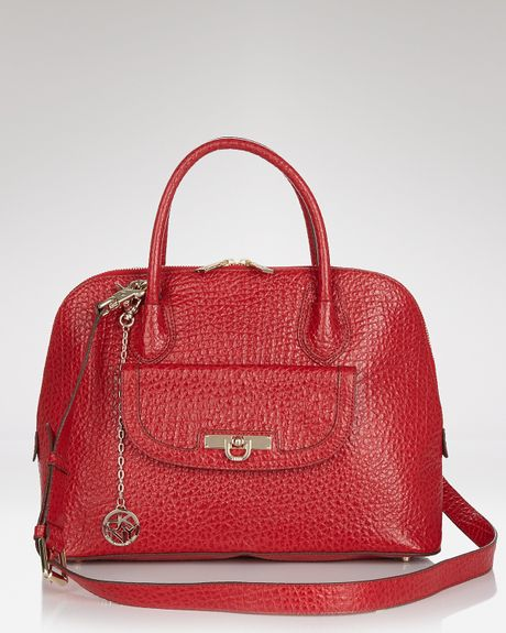 Dkny Satchel Beekman French Grain Round in Red - Lyst