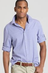 Elie Tahari Zac Gingham Sport Shirt Slim Fit - Lyst