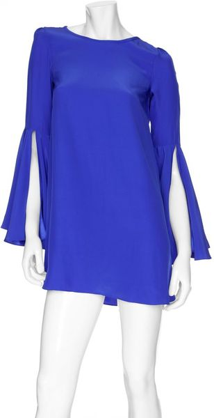 Elizabeth And James Bell Sleeved Mabel Dress in Purple - Lyst
