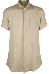 Fendi Linen Shirt in Beige for Men - Lyst