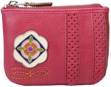Fossil Maddox Icon Novelty Large Coin Purse in Pink (raspberry) - Lyst