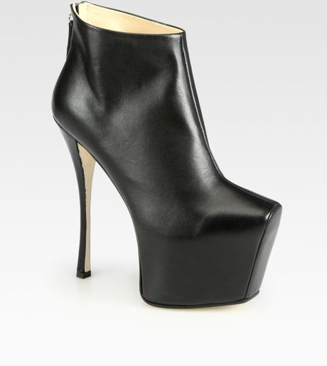 Giuseppe Zanotti Leather Platform Ankle Boots in Black - Lyst