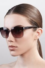 Givenchy Square Metal Sunglasses Bronzebrown in Brown (bronze brn) - Lyst