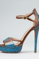 House Of Harlow Sandals Nancie High Heel in Blue - Lyst