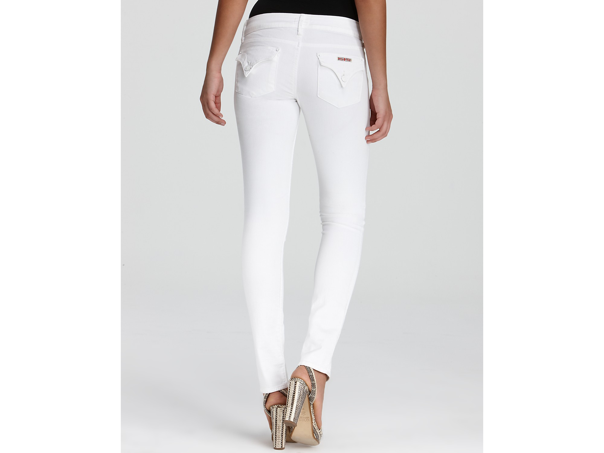 Hudson jeans Jeans Collin Skinny Jeans in White in White | Lyst