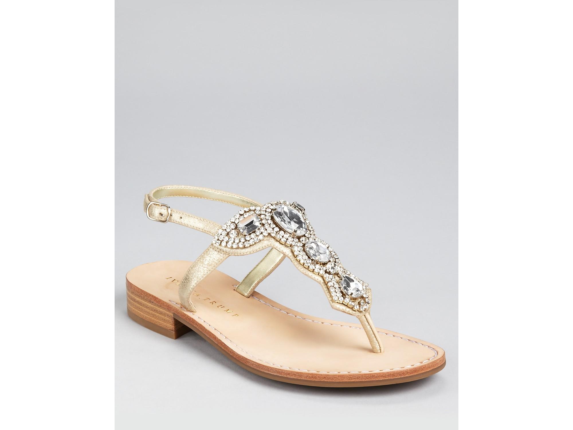 0de0be99da2c15 Lyst - Ivanka Trump Sandals Vance Jewel in Metallic