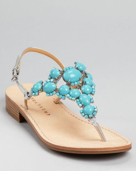 Ivanka Trump Sandals Valerie Stone In Pink Turquoise Lyst