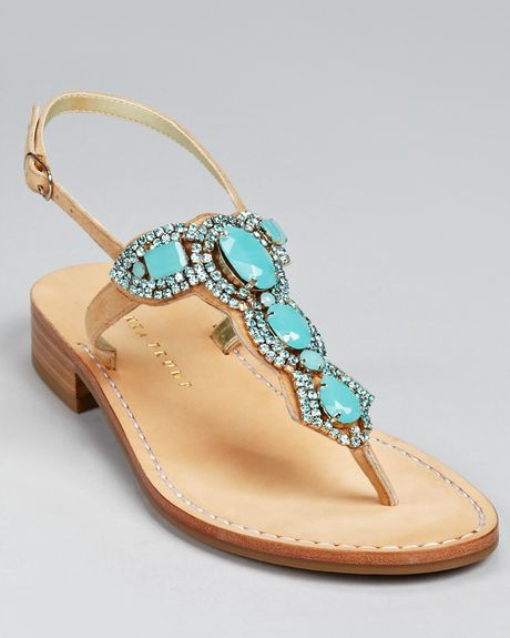 Ivanka Trump Sandals Vance Jeweled in Blue (turquoise) | Lyst