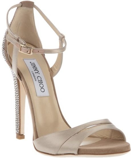 Jimmy Choo Stiletto Sandal in Beige (nude) - Lyst