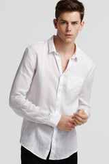 John Varvatos One Pocket Linen Sport Shirt Slim Fit - Lyst
