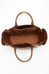 Lanvin Moon River Leather Tote in Brown - Lyst
