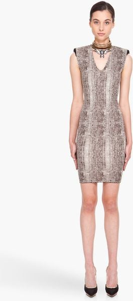 Lanvin Taupe Knit Dress in Gray (taupe) - Lyst