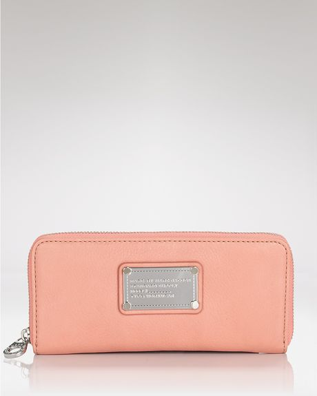 Marc By Marc Jacobs Wallet Classic Q Slim Zip in Pink (blush) - Lyst