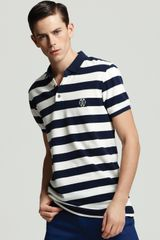 Marc By Marc Jacobs Stripe Logo Polo - Lyst