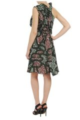 Marni Exclusive Printed Technocrepe Dress in Green - Lyst