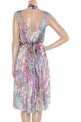 Matthew Williamson Printed Silk Mousseline Dress in Multicolor (purple) - Lyst