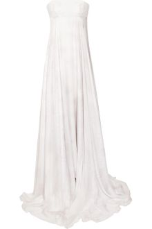 Matthew Williamson Printed Silk Chiffon Strapless Gown - Lyst