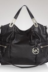Michael Kors Brookton Large Ew Tote  in Beige (black) - Lyst