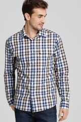 Michael Kors Maxwell Check 2pocket Sport Shirt Slim Fit - Lyst
