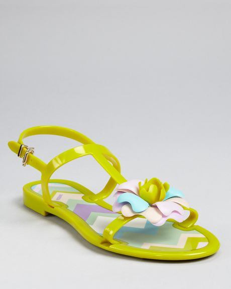 Missoni Jelly Sandals in Green - Lyst