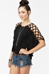 Nasty Gal Cut Up Top Black - Lyst