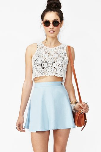 Nasty Gal Little White Lie Tank - Lyst