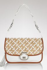 Rafe New York Leather Flap Clutch in White (w) - Lyst