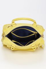 Rebecca Minkoff Mab Mini Satchel in Yellow - Lyst
