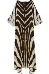 Roberto Cavalli Animal Print Silk Chiffon Dress in Animal - Lyst