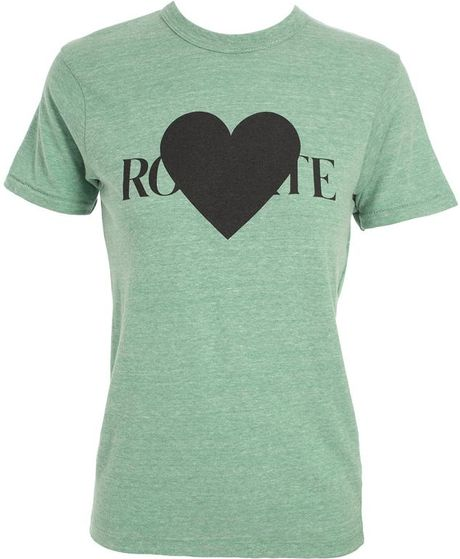 Rodarte Heart Tshirt in Green - Lyst