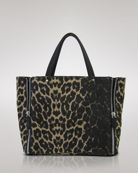 Sam Edelman Tote Genevieve Zipper in Animal (leopard) - Lyst