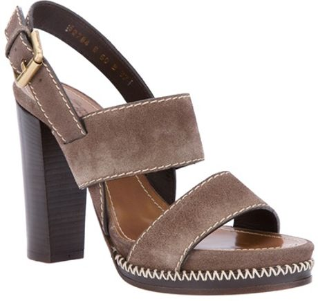 Santoni Strap Sandal in Gray (grey) - Lyst