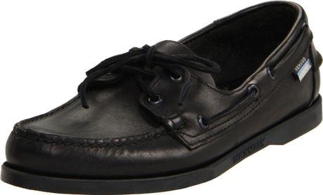 sebago sebago mens docksides boat shoe in black for
