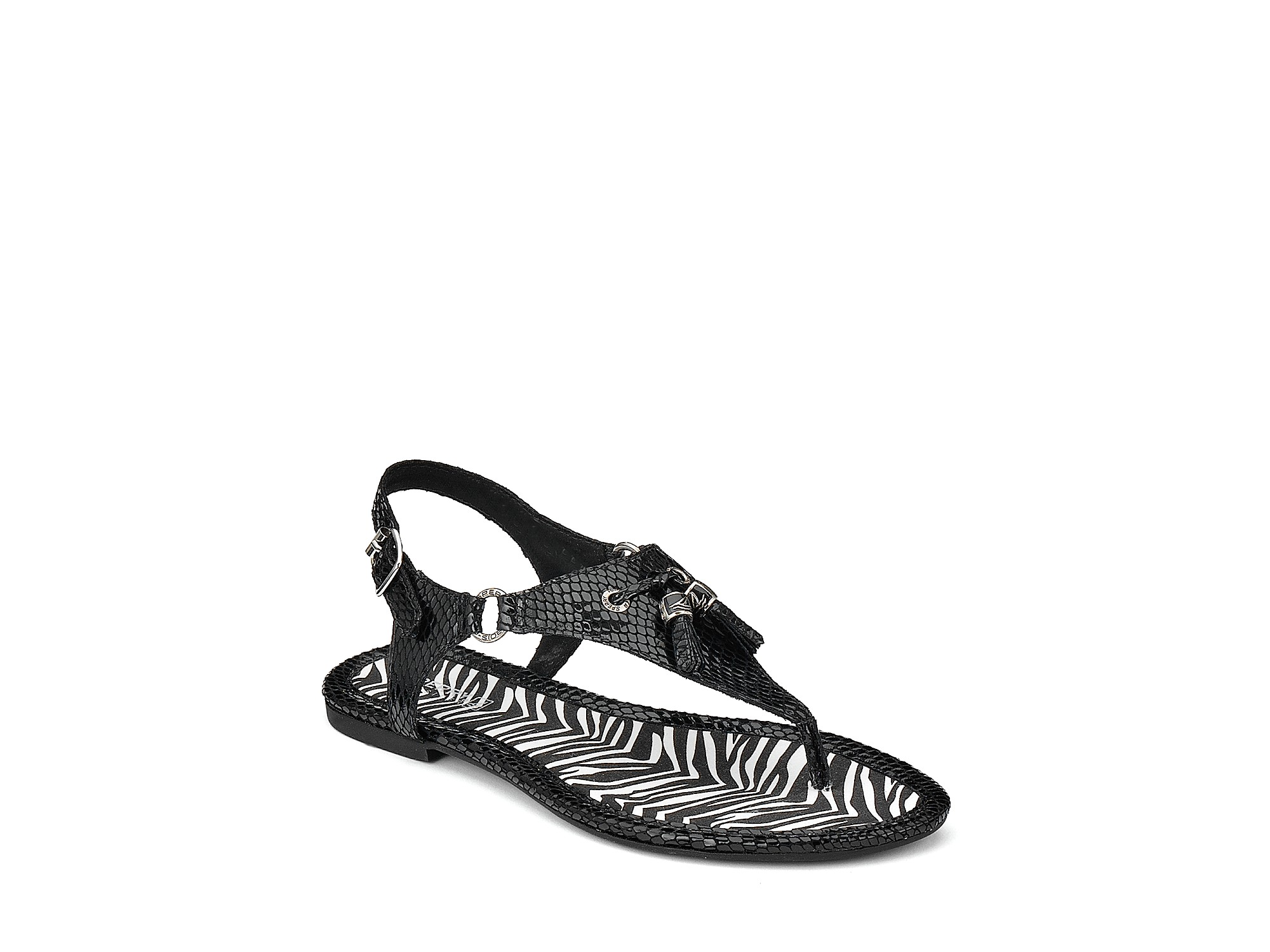 Sperry Top Sider Sandals Venture Tassel Flat In Black