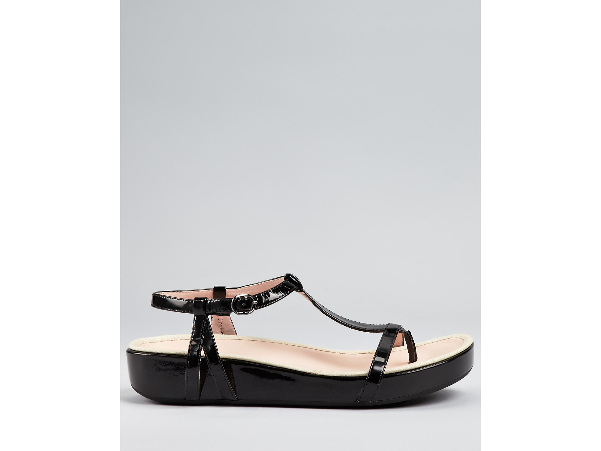 3b4752ce160 Lyst - Taryn Rose Sandals Amor Thong Sandal in Black
