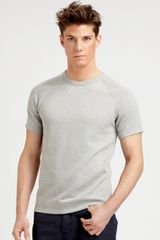 Theory Cotton Tee in Gray for Men (grey) - Lyst
