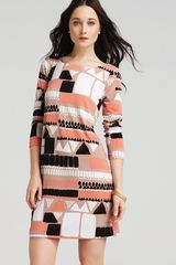 Tibi Dress Printed Shift - Lyst