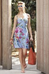 Tommy Bahama Floral Coverup Dress in Blue (bright marina multi) - Lyst