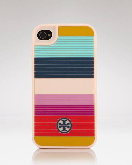Tory Burch Iphone Case Striped Hardshell in Multicolor (ballet pink) - Lyst