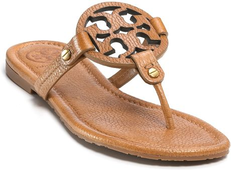 Tory Burch Thong Sandals Miller In Pink Love Pink Leather