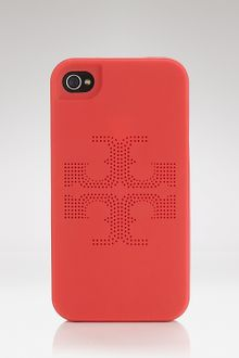 Tory Burch Iphone Case Kipp Perforated Logo - Lyst