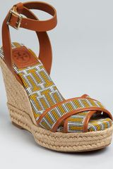 Tory Burch Wedges Florian Criss Cross - Lyst