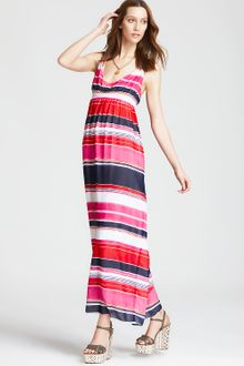 Vince Camuto Striped Maxi Dress - Lyst