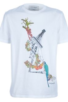 Yves Saint Laurent Printed Tshirt - Lyst